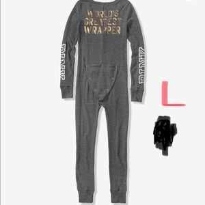 VS PINK Bling sequin holiday onesie pajamas